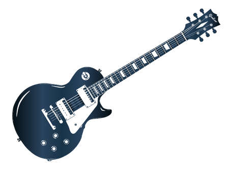 Blue electric guitar icon.