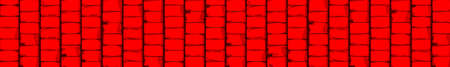 A bright red block wall style background banner