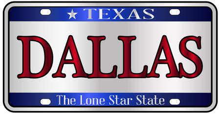 Dallas Texas state license plate mockup spoof over a white background Stockfoto - 103473837