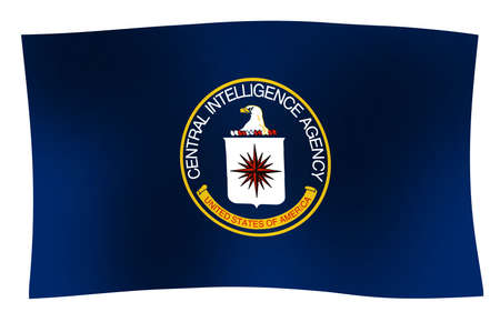 Flag of The Central Intelligence Agency of the United States of America with wave Banco de Imagens