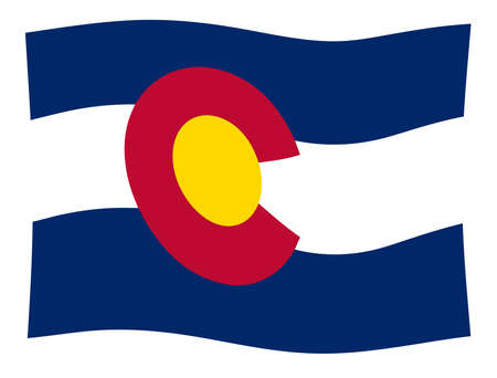 The United States of American state flat of colorado with wave Stock Photo