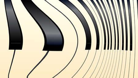 Touches de piano noires et blanches abstraites déformées avec une teinte d'âge Banque d'images