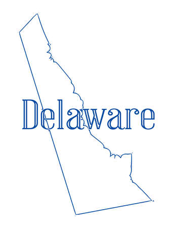 Outline map of the state of Delaware