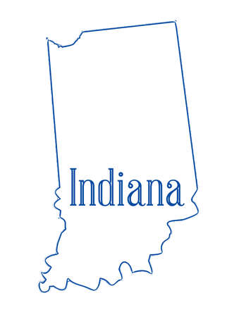 Outline map of the state of Indiana over white