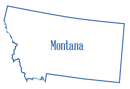 Outline map of the state of Montana isolated