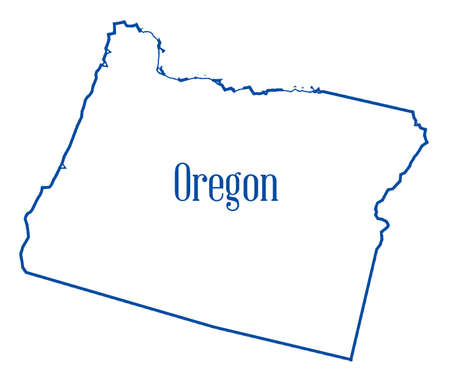 Outline map of the state of Oregon isolated 写真素材