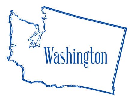 Outline map of the state of Washington