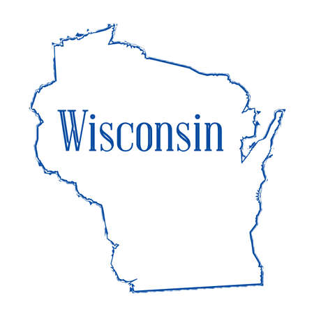 Outline map of the American state of Wisconsin