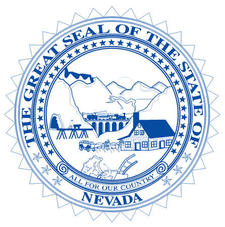 The great seal of Nevada over a white background 写真素材