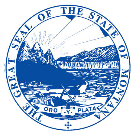 The state seal of Montana over a white background