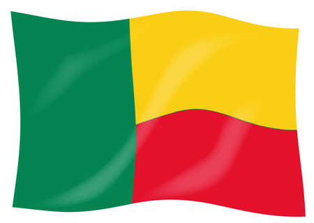 The flag of the African country of Benin Stock Photo