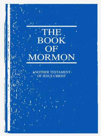 The front cover of The Book of Mormon over a white background