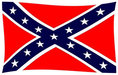 La bandera de los confederados durante la Guerra Civil Americana Foto de archivo