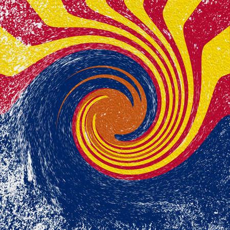 An abstract grunge vortex image