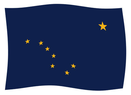 The flag of the state of Alaska waving Stock Photo