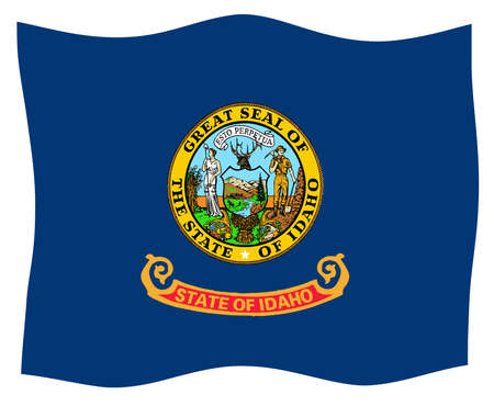 The state flag of the USA state of Idaho