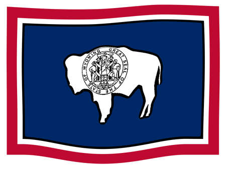 The USA state of Wyoming state flag