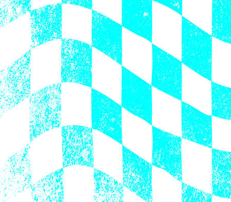 A dirty blue and white grunge fx chequered race flag