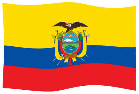 Flag of the South American country of Ecuador