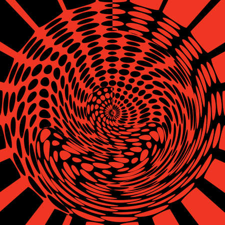 A background of red and black with red and black spots in a vortex 스톡 콘텐츠