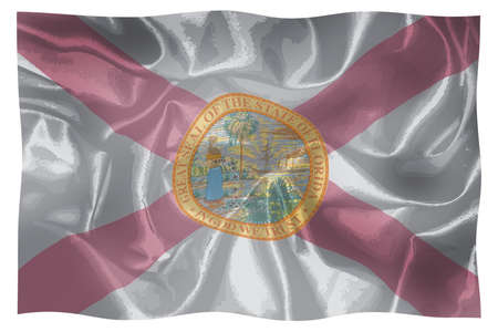 The flag of the USA state of Florida waving in the breeze