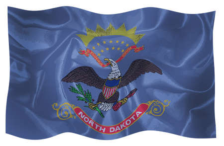 The flag of the USA state of North Dakota
