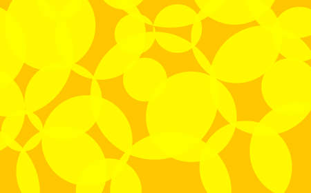 Interlocking circles in yellow and orange Stock Photo