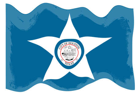 City of Houston flag Stock Photo