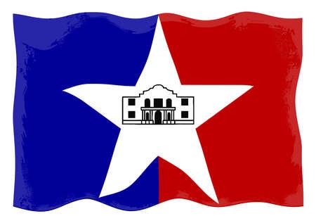 City of San Antonio flag Stock Photo