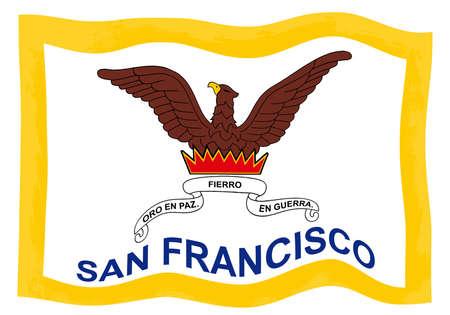 City of San Francisco flag 写真素材 - 112306359