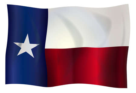 The flag of the USA state of TEXAS Stock Photo