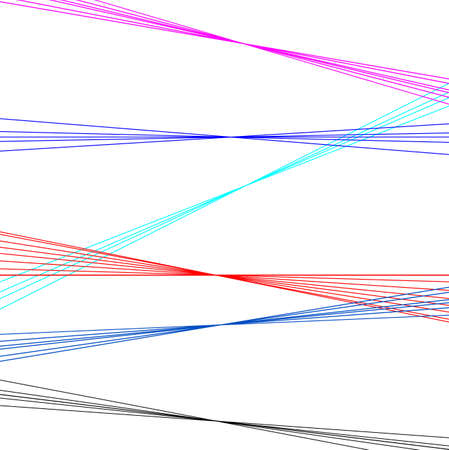 Multi coloured lazer lines set on a white contrasting background