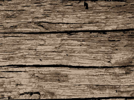 A background of old driftwood that is well worn Illustration
