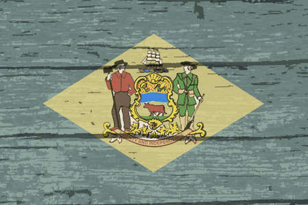 The flag of the USA state of Delaware