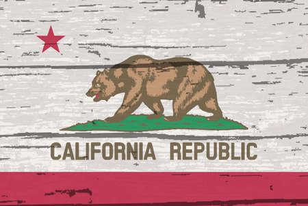 Le drapeau de l'État américain de Californie