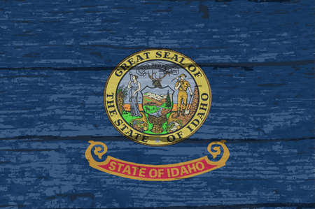 The flag of the USA state of Idaho