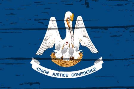 Le drapeau de l'État américain de Louisiane