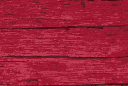 Driftwood timber background with a Red paint overlay Çizim