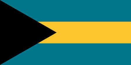 The national flag of the Bahamas  イラスト・ベクター素材