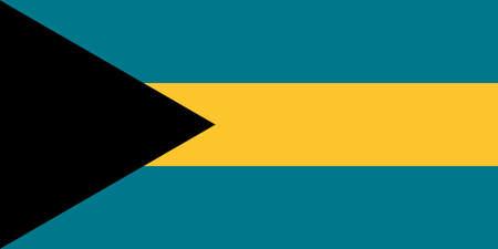 The national flag of the Bahamas 向量圖像