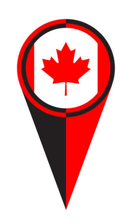 Canada map pointer pin icon location flag marker