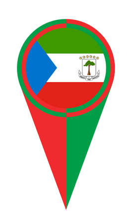 Equatorial Guinea map pointer pin icon location flag marker