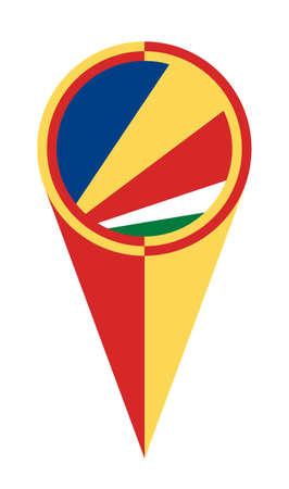 Seychelles map pointer pin icon location flag marker 일러스트