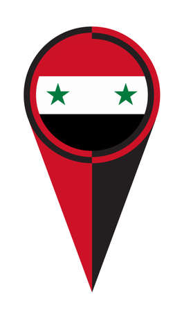 Syria map pointer pin icon location flag marker