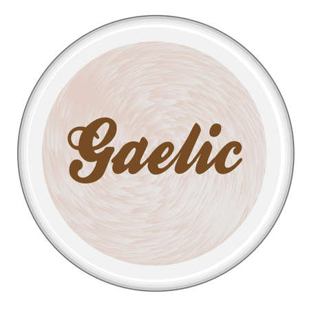 Top view of a cup of Gaelic Irish Coffee over a white background Ilustração