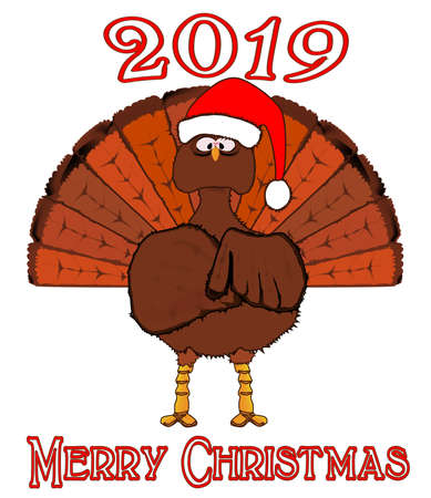 A Christmas Turkey with a message of Merry Christmas for 2019