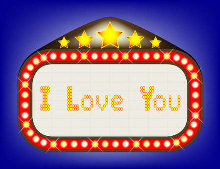 I love you theatre or theatre marquee.