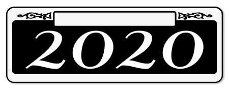 New Orleons 2020 street sign over a white background Ilustração
