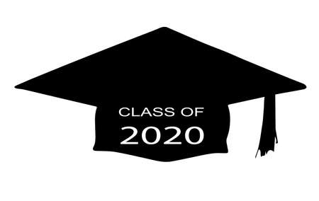 A cap with the legend Class of 2020 over a white background