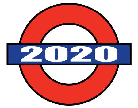 A depiction of the London Underground but with a 2020 plate